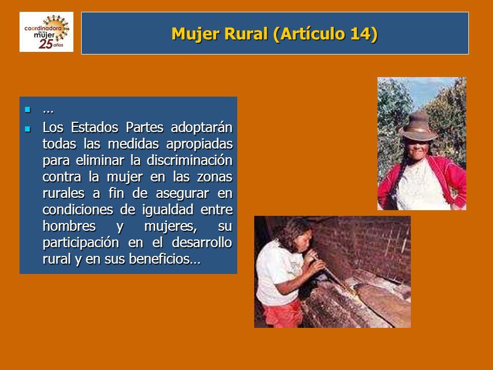 Mujer Rural (Artículo 14)