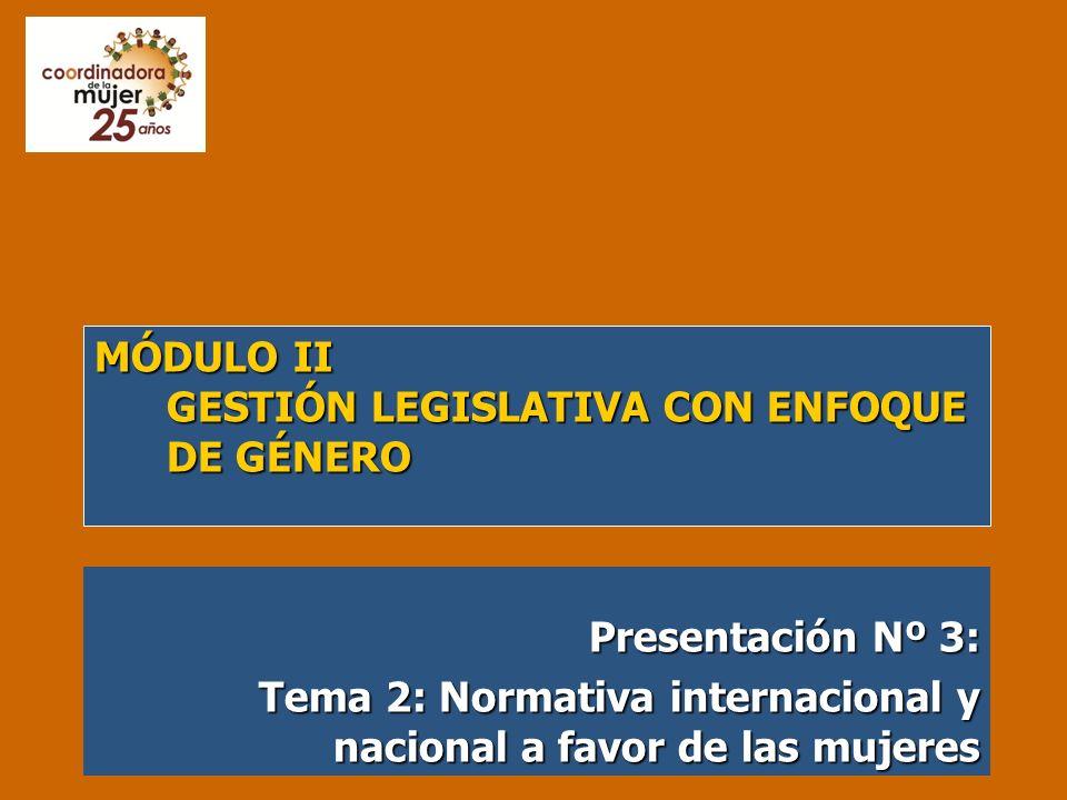 Módulo II Gestión Legislativa con Enfoque de Género