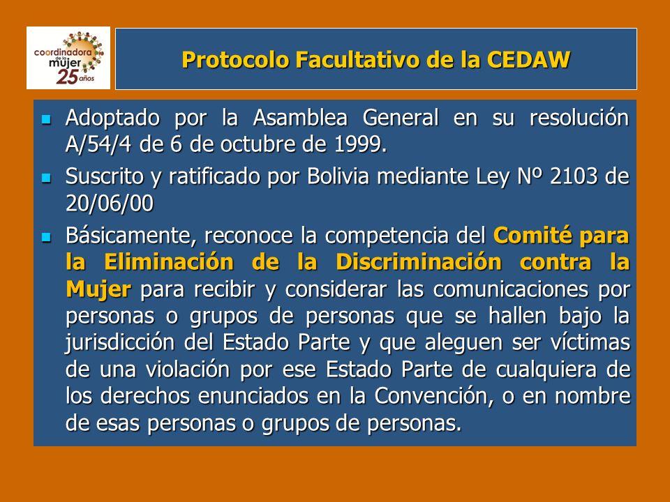 Protocolo Facultativo de la CEDAW