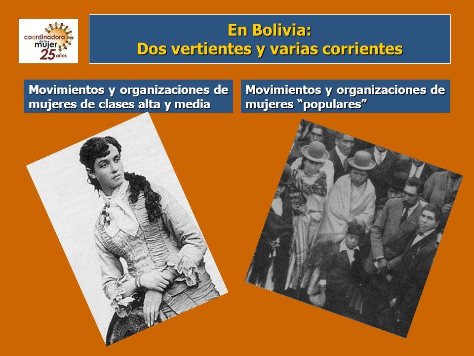 En Bolivia: Dos vertientes y varias corrientes