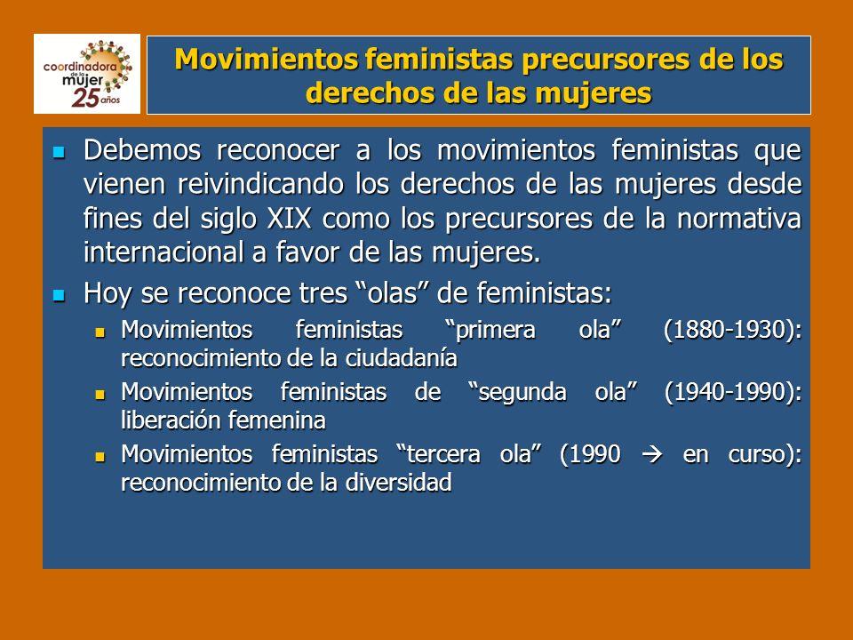 Movimientos feministas precursores de los derechos de las mujeres