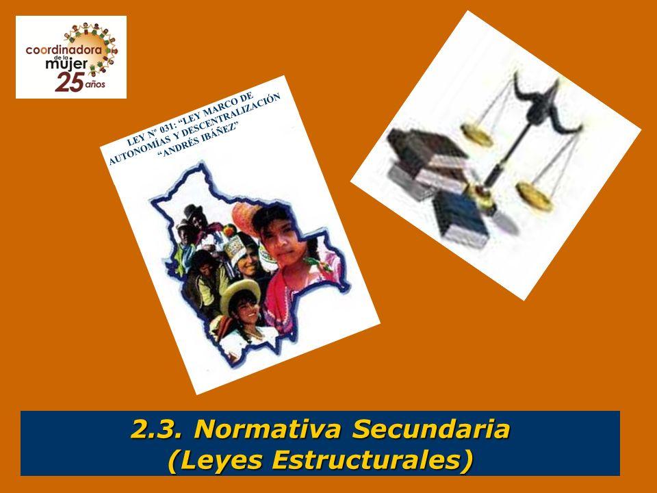 2.3. Normativa Secundaria (Leyes Estructurales)