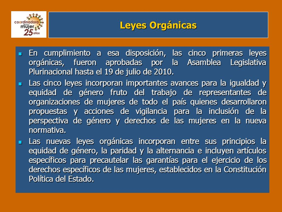 Leyes Orgánicas