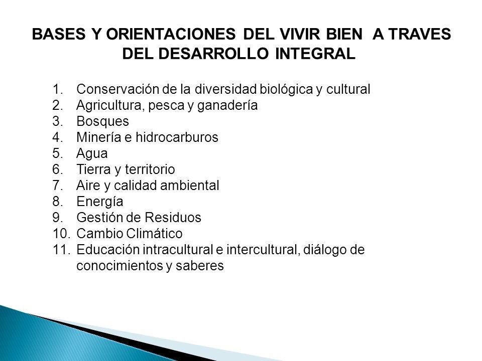 BASES Y ORIENTACIONES DEL VIVIR BIEN A TRAVES DEL DESARROLLO INTEGRAL