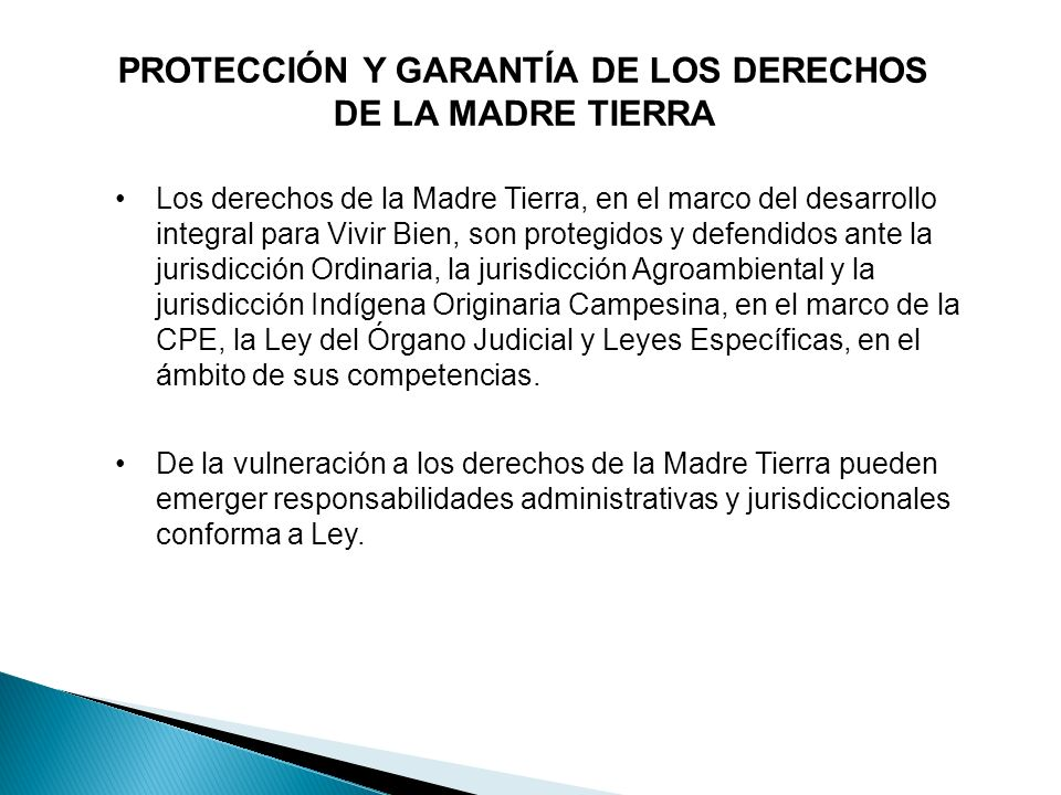 PROTECCIÓN Y GARANTÍA DE LOS DERECHOS