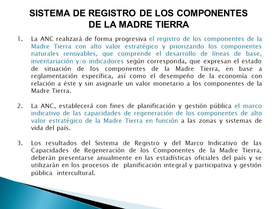 SISTEMA DE REGISTRO DE LOS COMPONENTES