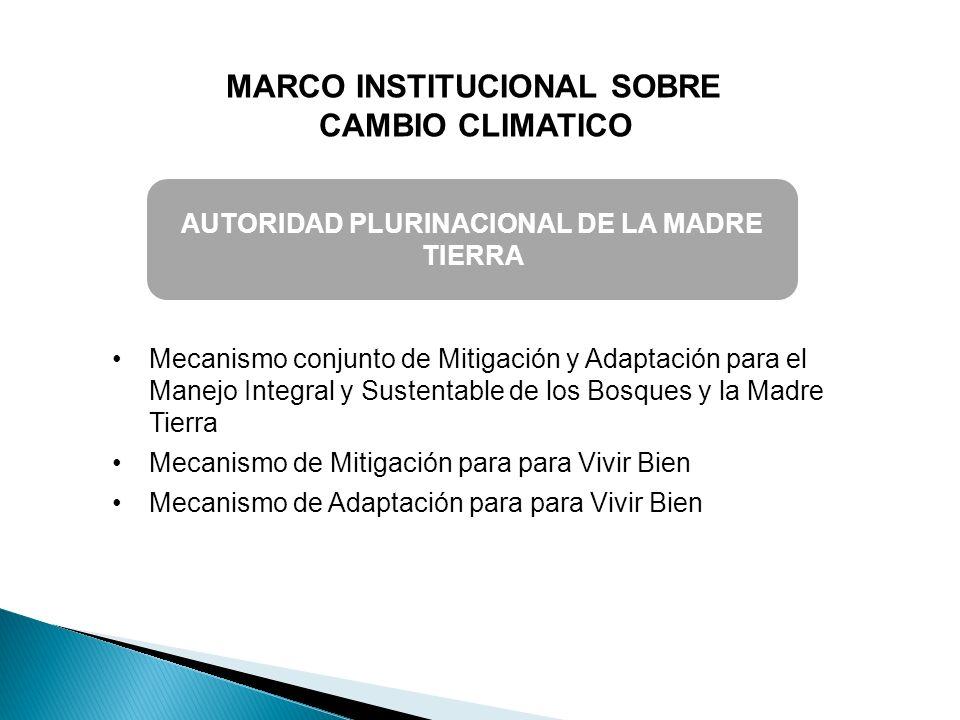 MARCO INSTITUCIONAL SOBRE AUTORIDAD PLURINACIONAL DE LA MADRE TIERRA