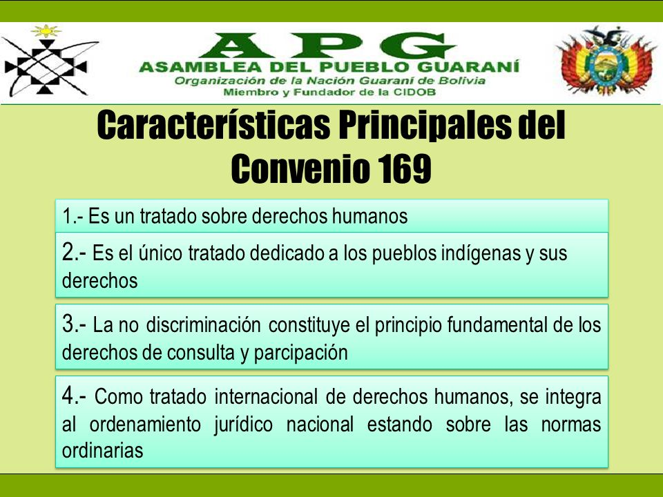 Características Principales del Convenio 169