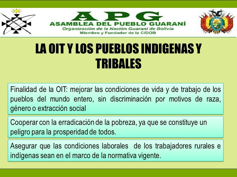 LA OIT Y LOS PUEBLOS INDIGENAS Y TRIBALES
