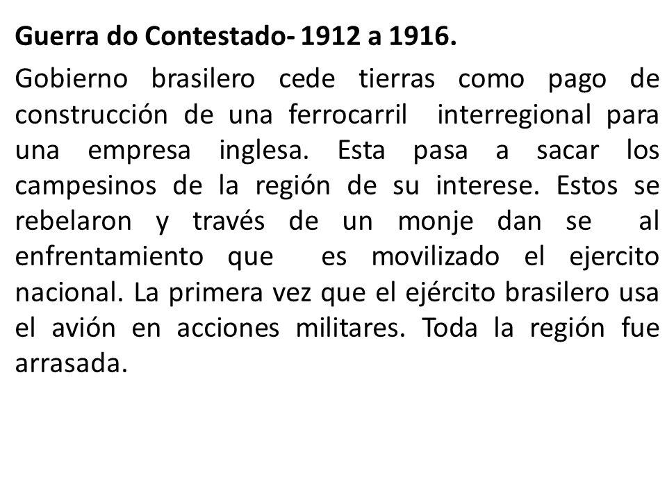 Guerra do Contestado- 1912 a 1916