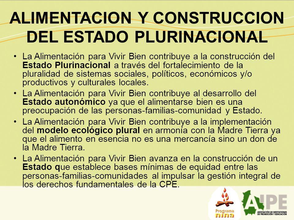 ALIMENTACION Y CONSTRUCCION DEL ESTADO PLURINACIONAL