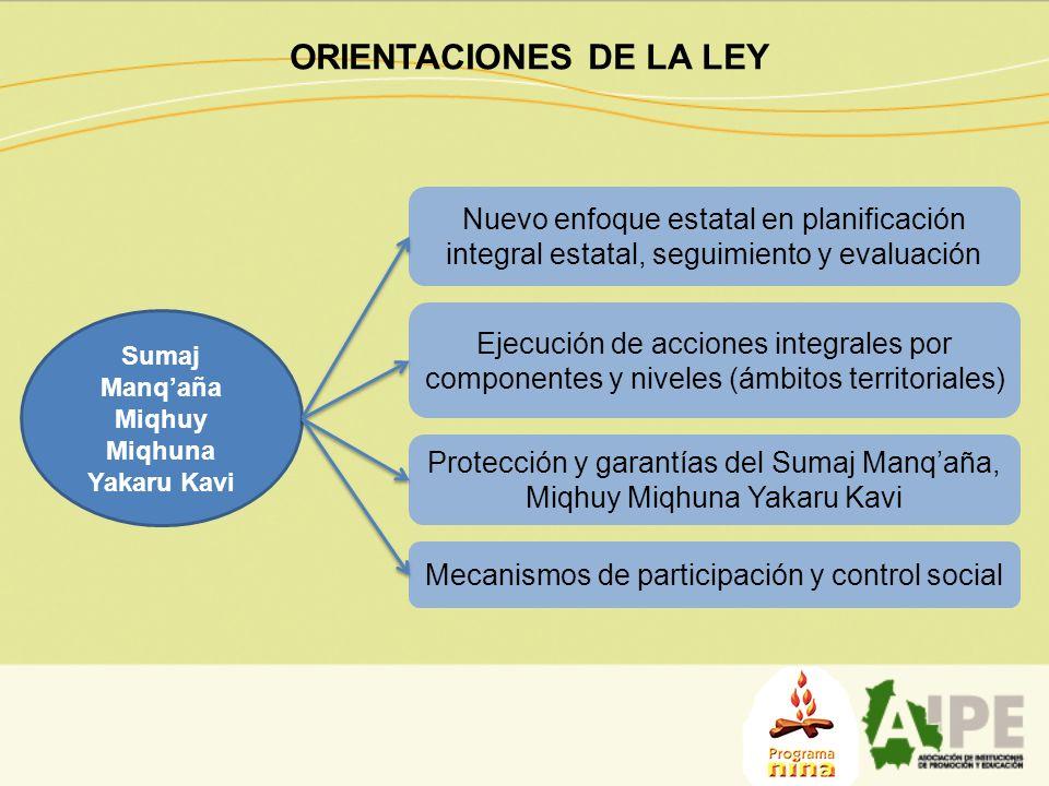 ORIENTACIONES DE LA LEY