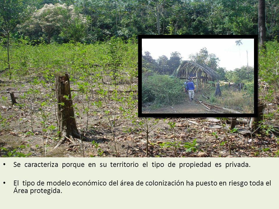 Se caracteriza porque en su territorio el tipo de propiedad es privada.