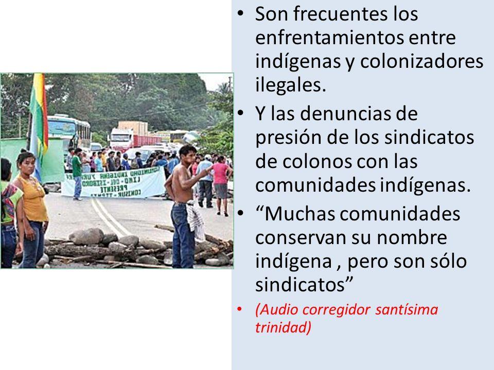 Son frecuentes los enfrentamientos entre indígenas y colonizadores ilegales.
