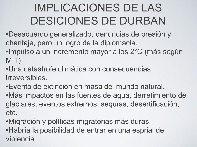 IMPLICACIONES DE LAS DESICIONES DE DURBAN