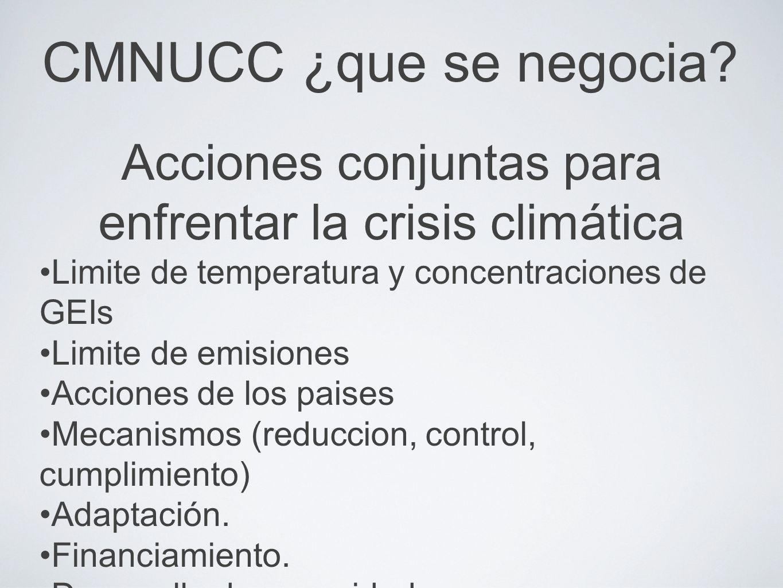 Acciones conjuntas para enfrentar la crisis climática
