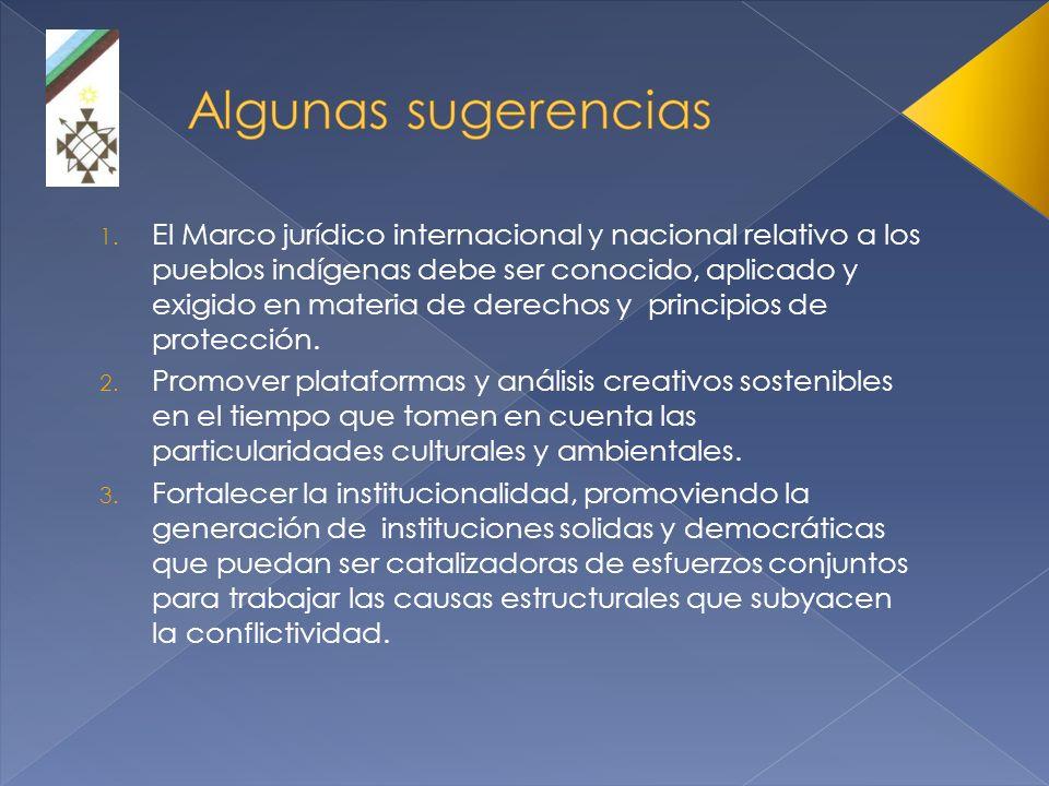 El Marco jurídico internacional y nacional relativo a los pueblos indígenas debe ser conocido, aplicado y exigido en materia de derechos y principios de protección.