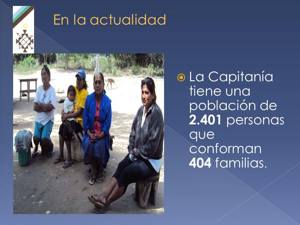 En la actualidad La Capitanía tiene una población de 2.401 personas que conforman 404 familias.