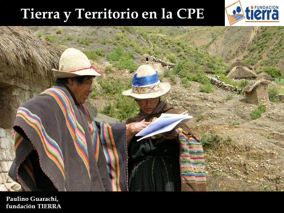Tierra y Territorio en la CPE