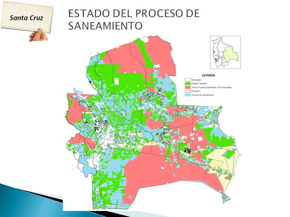 ESTADO DEL PROCESO DE SANEAMIENTO DEPARTAMENTO SANTA CRUZ