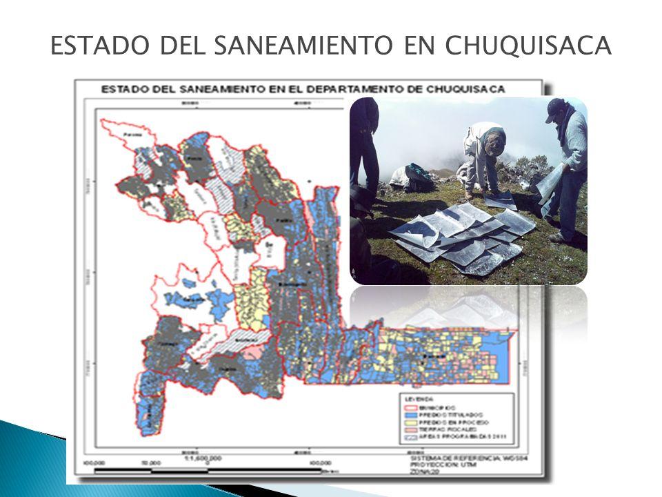 ESTADO DEL SANEAMIENTO EN CHUQUISACA