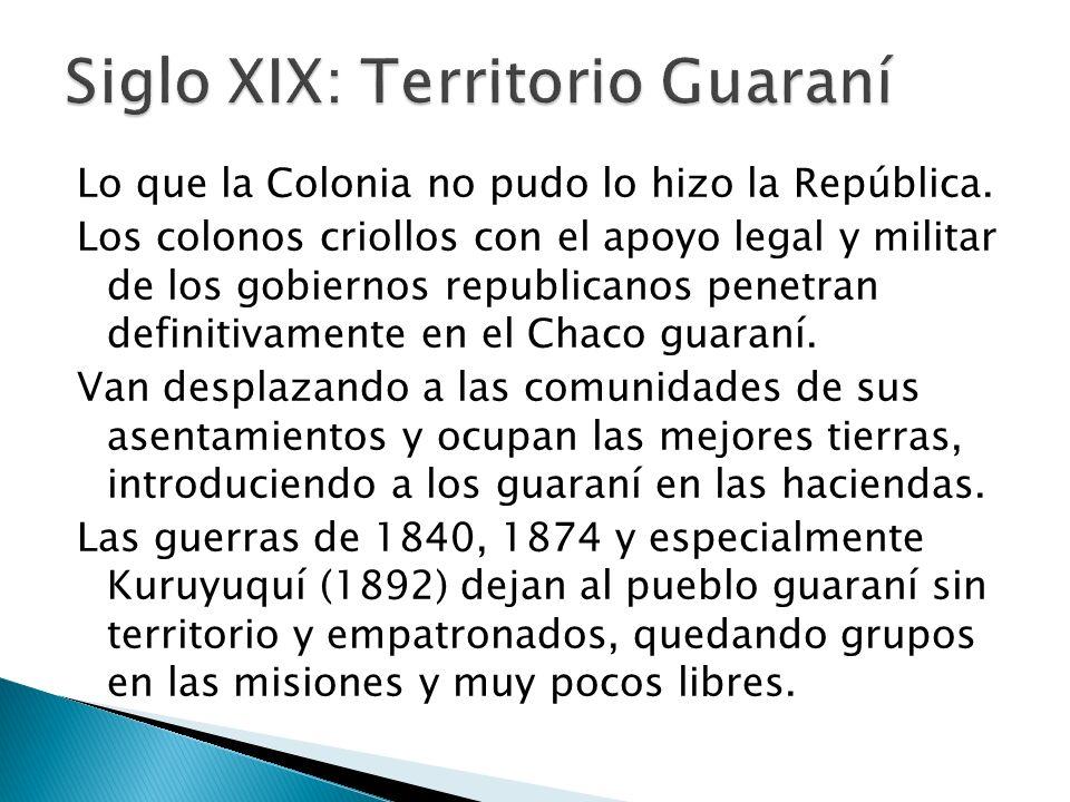 Siglo XIX: Territorio Guaraní