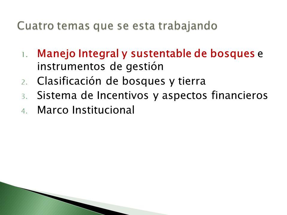 Manejo Integral y sustentable de bosques e instrumentos de gestión