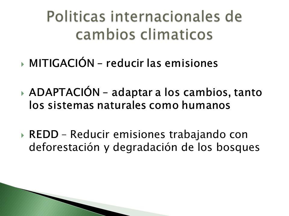 MITIGACIÓN – reducir las emisiones