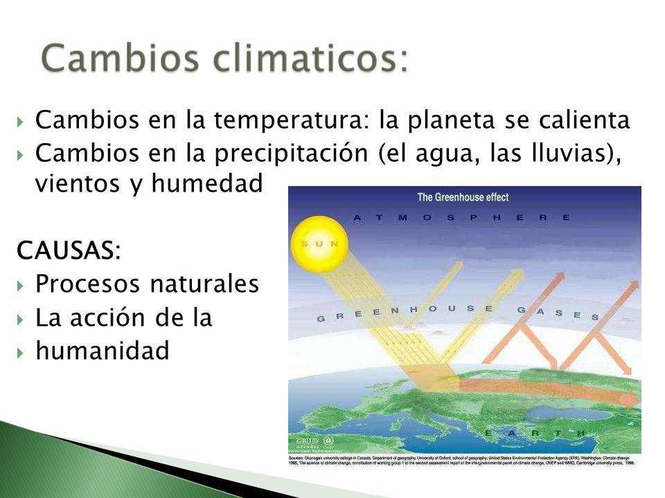 Cambios en la temperatura: la planeta se calienta