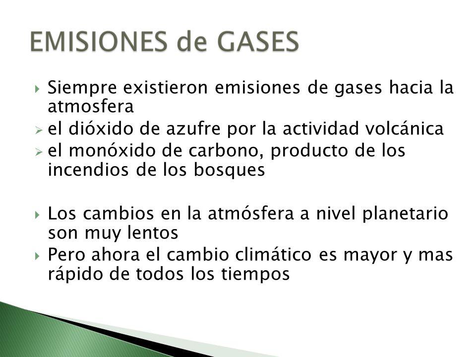 Siempre existieron emisiones de gases hacia la atmosfera