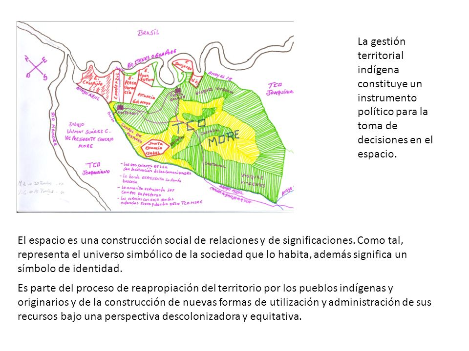 La gestión territorial indígena constituye un instrumento político para la toma de decisiones en el espacio.