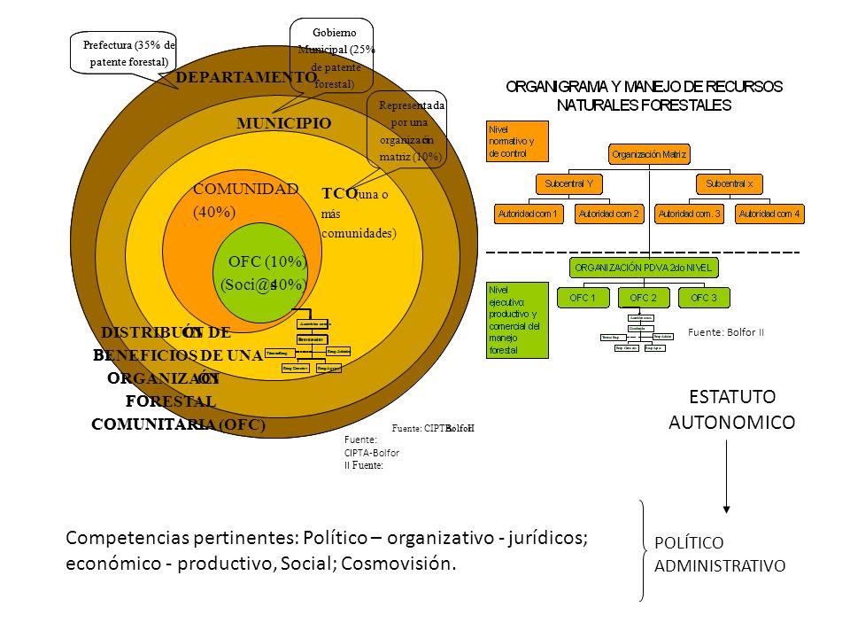 Gobierno Gobierno. Prefectura (35% de. Prefectura (35% de. Municipal (25% Municipal (25% patente forestal)