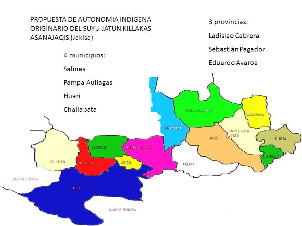 PROPUESTA DE AUTONOMIA INDIGENA ORIGINARIO DEL SUYU JATUN KILLAKAS ASANAJAQIS (Jakisa)