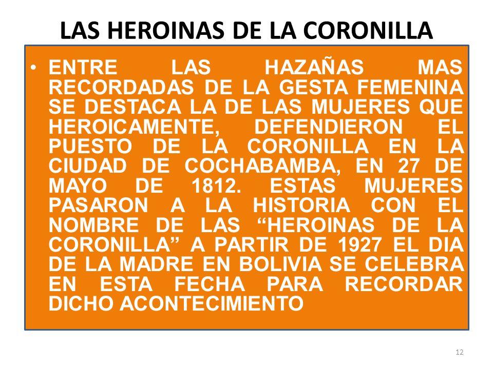 LAS HEROINAS DE LA CORONILLA
