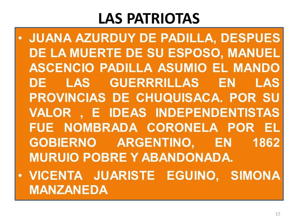 LAS PATRIOTAS