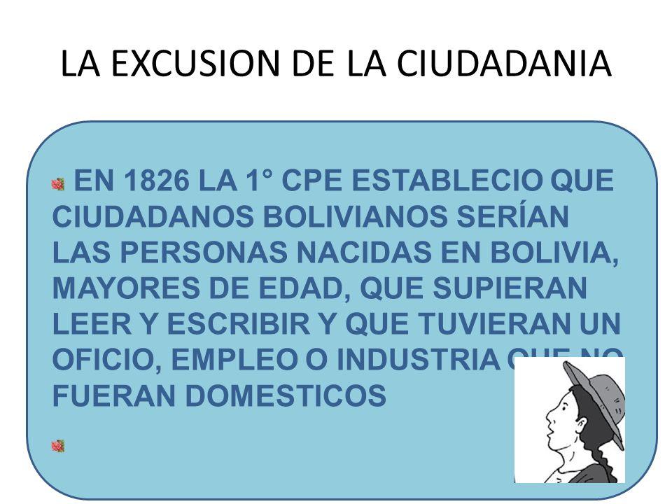 LA EXCUSION DE LA CIUDADANIA