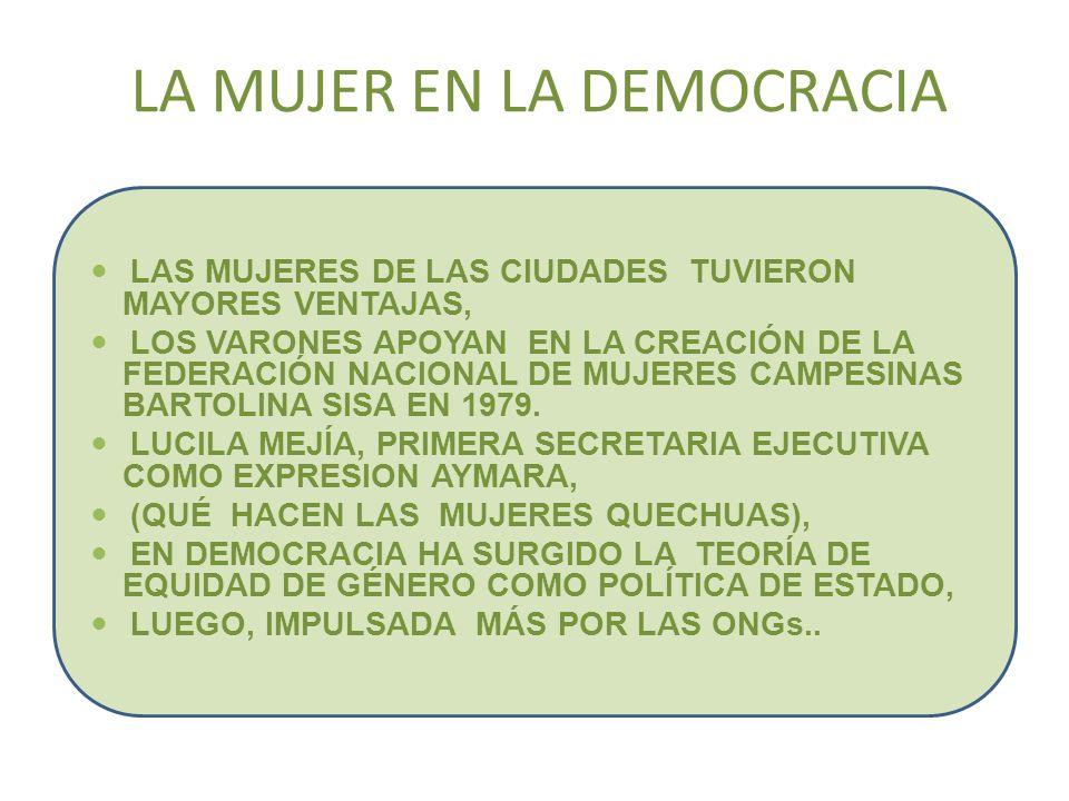 LA MUJER EN LA DEMOCRACIA