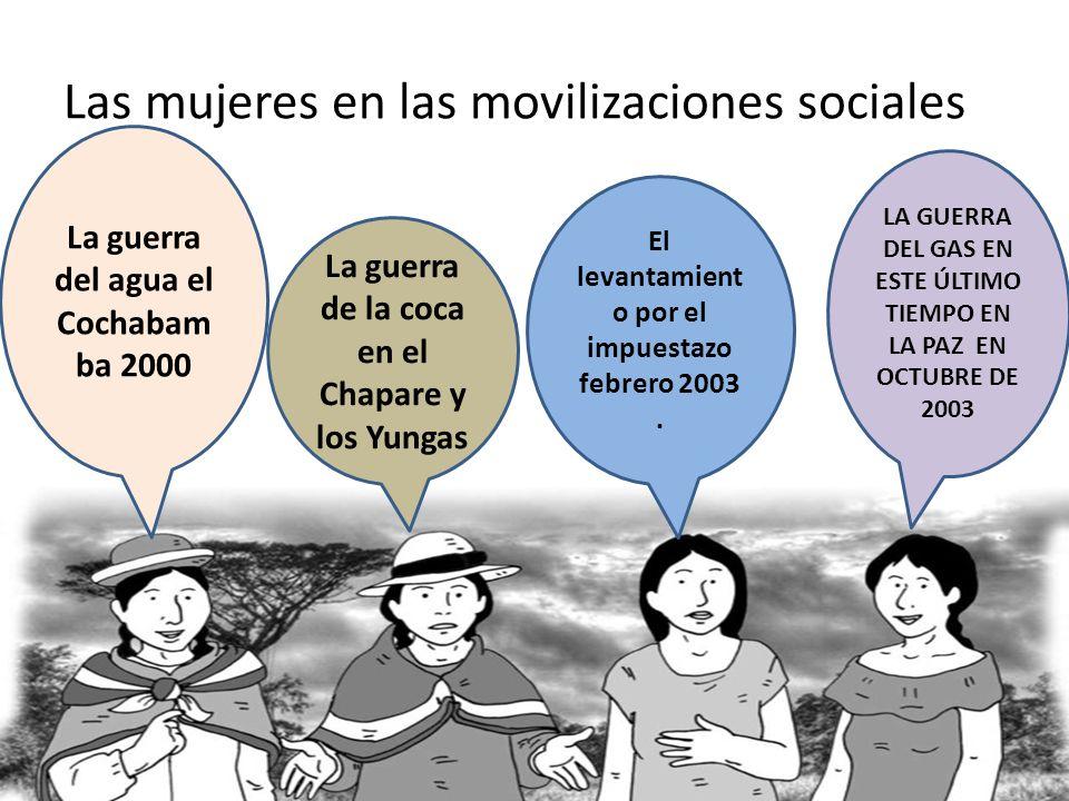 Las mujeres en las movilizaciones sociales