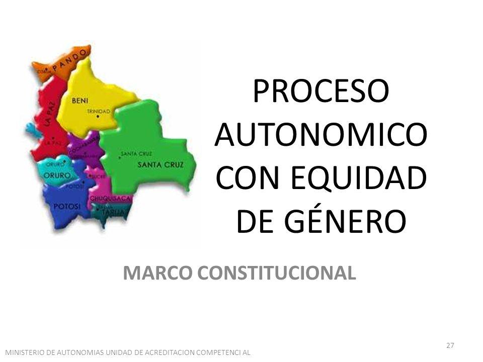 PROCESO AUTONOMICO CON EQUIDAD DE GÉNERO