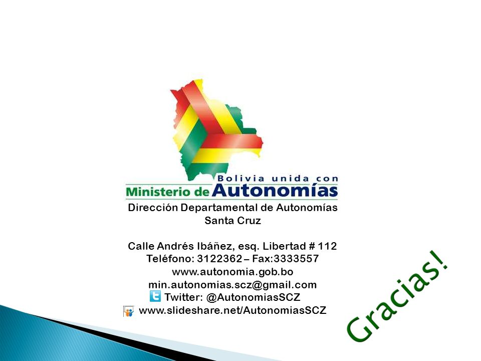 Dirección Departamental de Autonomías Santa Cruz