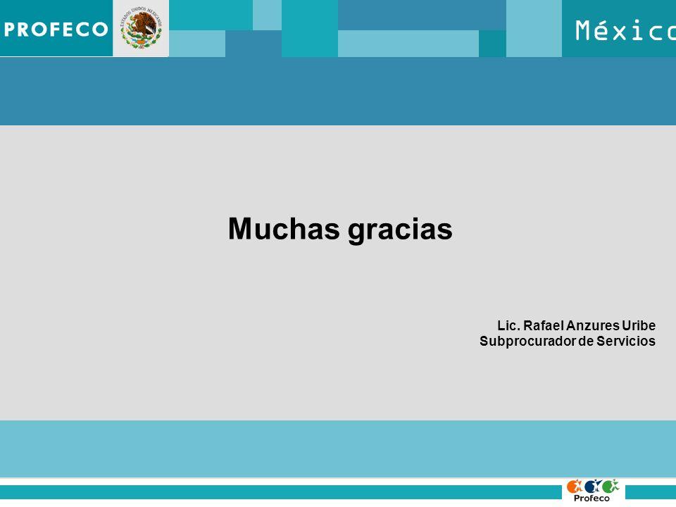 México Muchas gracias Lic. Rafael Anzures Uribe