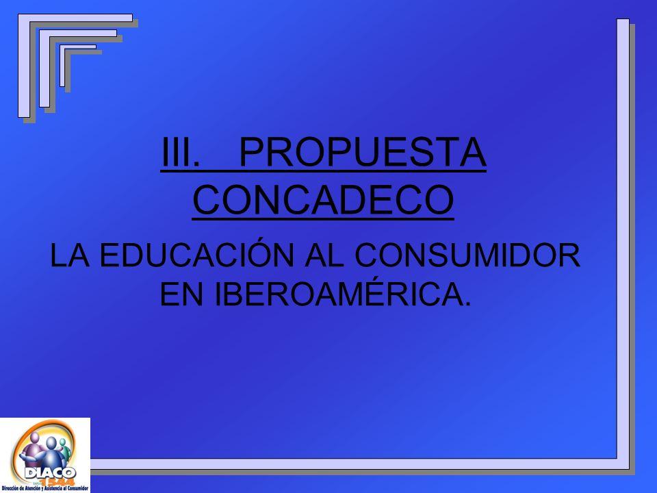 III. PROPUESTA CONCADECO