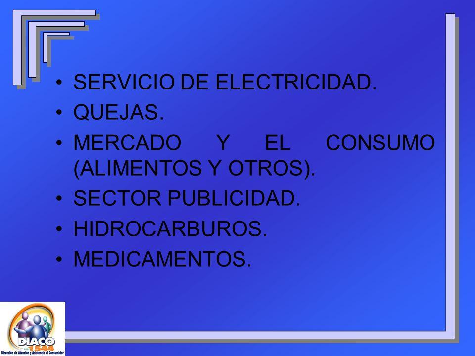 SERVICIO DE ELECTRICIDAD.