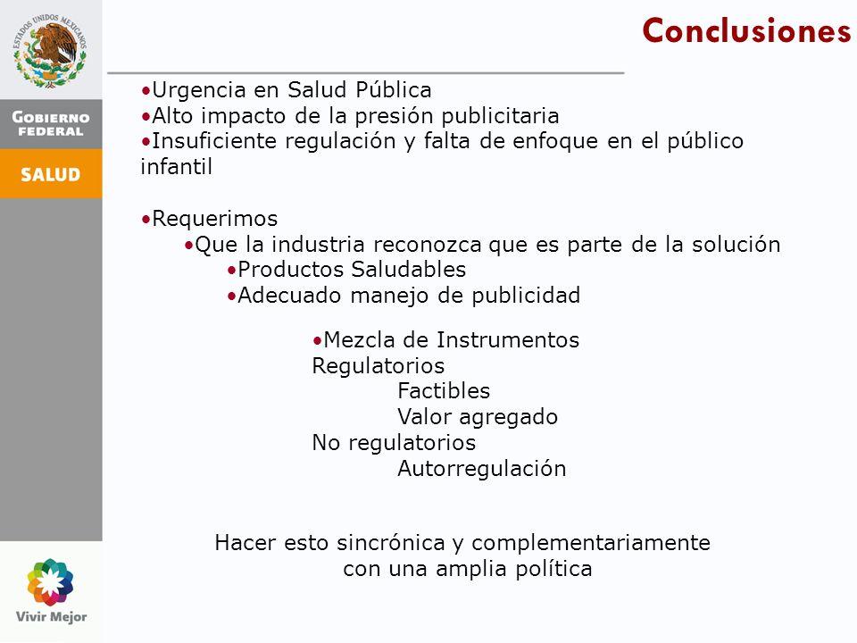 Conclusiones Urgencia en Salud Pública