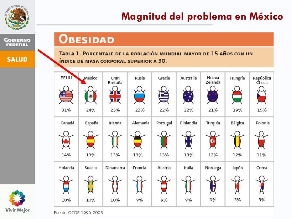 Magnitud del problema en México