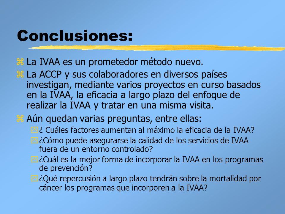 Conclusiones: La IVAA es un prometedor método nuevo.