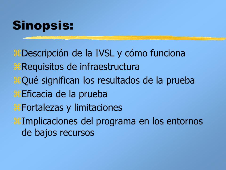 Sinopsis: Descripción de la IVSL y cómo funciona