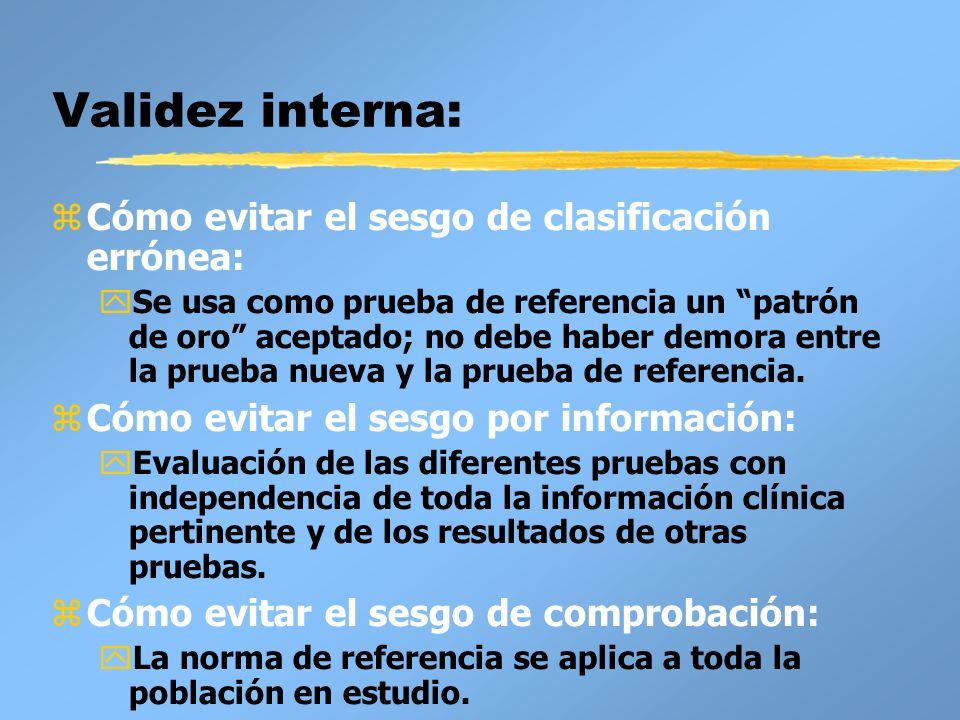 Validez interna: Cómo evitar el sesgo de clasificación errónea: