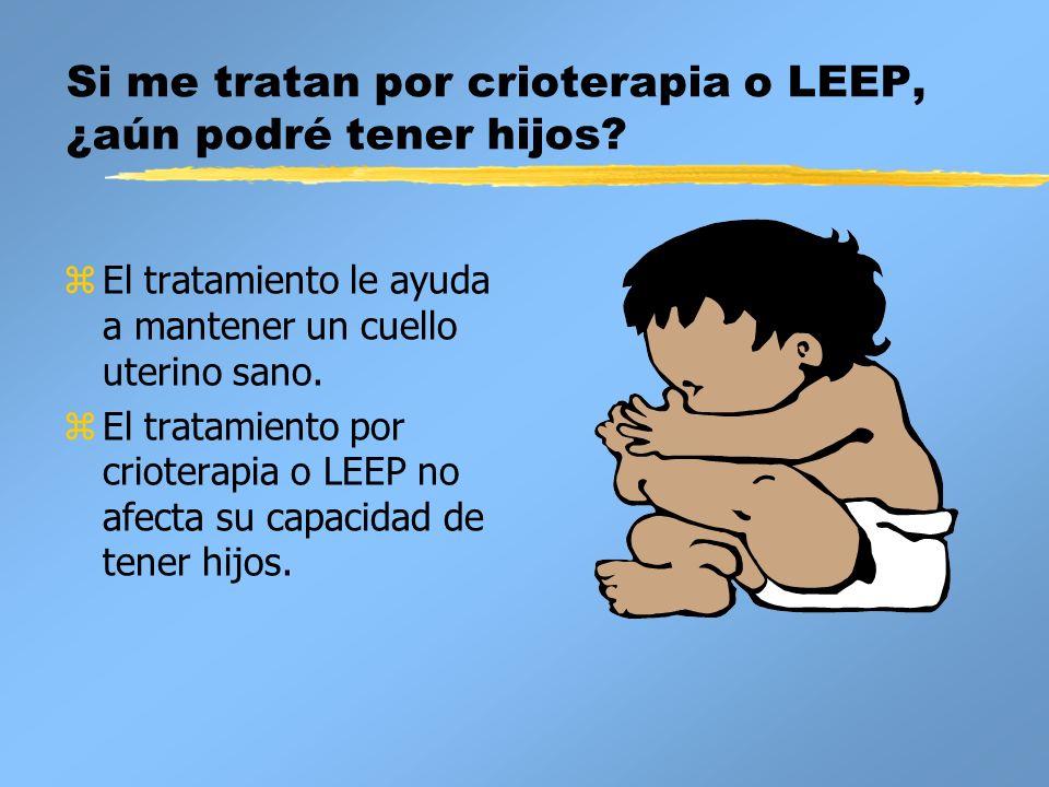 Si me tratan por crioterapia o LEEP, ¿aún podré tener hijos