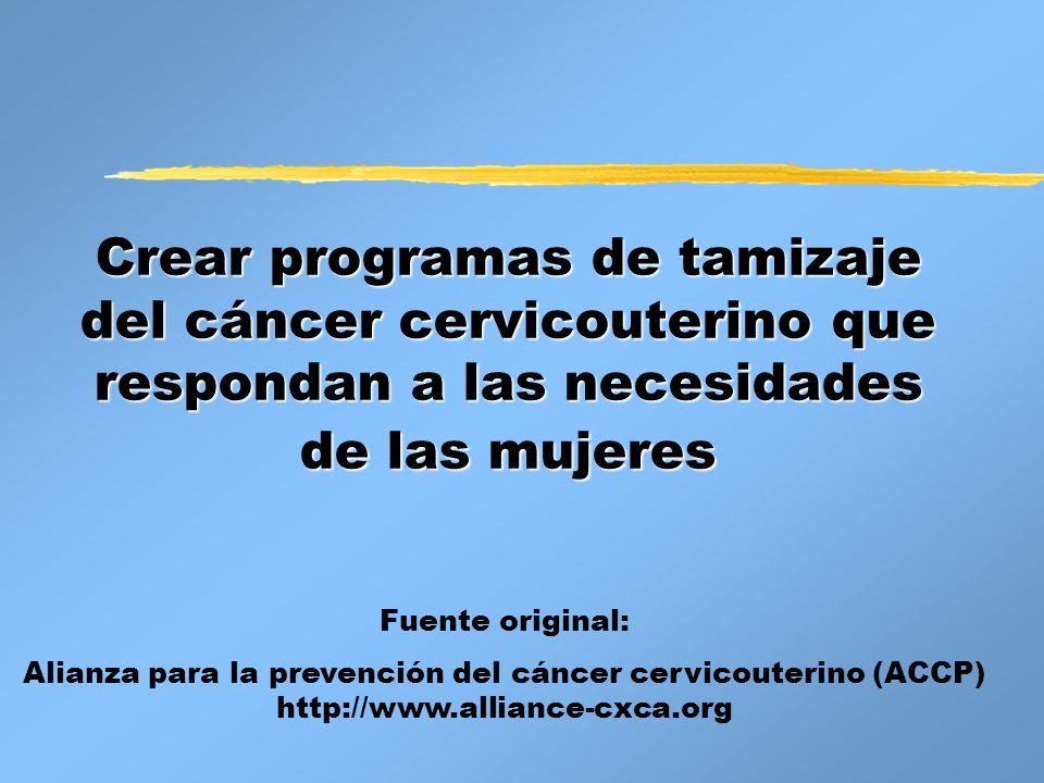 Alianza para la prevención del cáncer cervicouterino (ACCP)